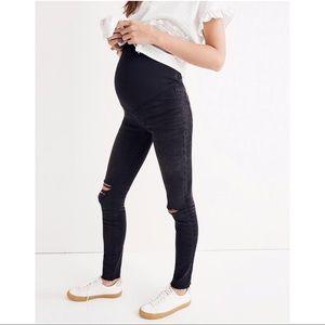 Madewell Maternity Black Sea Skinny Jeans 27